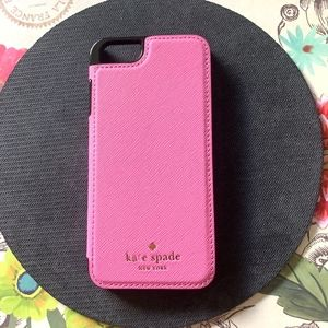 Kate Spade Pink Leather Folio iPhone 6/6s Case